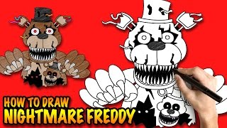 How to draw Nightmare Freddy FNAF - Step-by-step drawing tuturial