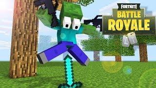 Monster School: FORTNITE BATTLE ROYALE CHALLENGE - Minecraft Animation
