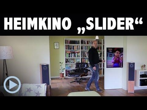 Heimkino Slider - Wohnraum Installation mit Beamer und Fernseher elegant versteckt!