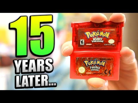 Playing OLD Pokemon games 15 YEARS LATER! (100% Pokedex)