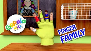 The Finger Family Song | English Poems | GopalaKidz