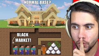 I Built The BIGGEST Underground Black Market In Minecraft History | Home invaders Part 8