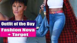 Outfit of the Day | Fashion Nova + Target | Casual Look (As seen on Instagram)