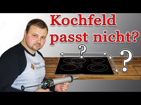 Ausschnitt für das Kochfeld ist zu groß? Adapterrahmen für Ceranfeld einbauen.