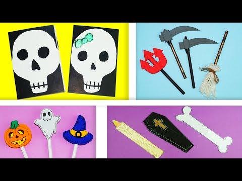 4 Halloween Diy School Supplies Easy Diy Paper Crafts Ideas