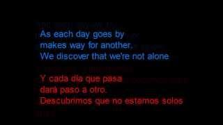 Travis - My eyes -  Letra en español y en inglés en la pantalla