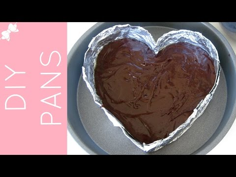 Video DIY Disposable Baking Pans (heart shaped foil pans, parchment cheesecake pans & more!)