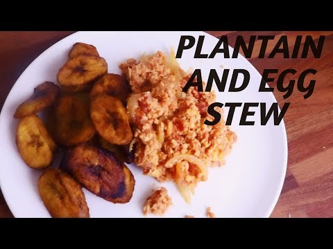 HOW TO COOK PLANTAIN AND EGG STEW/ NIGERIAN FOOD