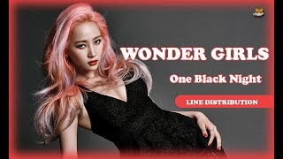 Line Distribution: Wonder Girls - One Black Night (Color Coded)