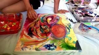 HOUSE OF HIPPIES  Art Timelapse With Dewey