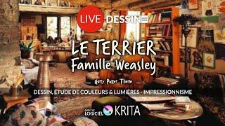 🔴 LIVE DESSIN : Le Terrier - Weasley - Harry Potter - Dessin  Illustration Sur Krita