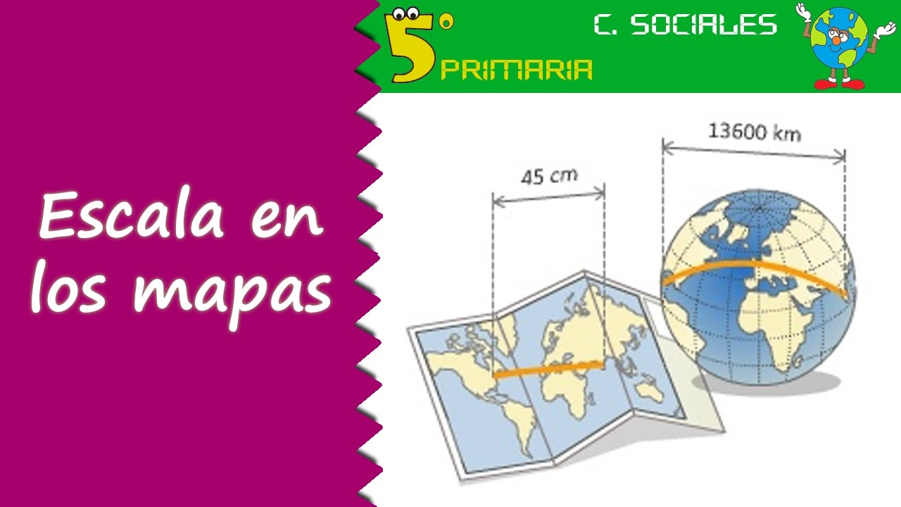 Escala en los mapas. Sociales, 5º Primaria. Tema 2