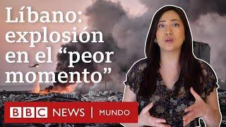 """Por qué la explosión en Beirut llega en el """"peor momento"""" de Líbano   BBC Mundo"""