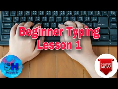 Beginner Typing Lesson 1 | Learn Typing Fast | Learn Typing | Typing Practice | English typing