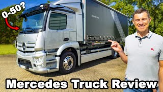 New Mercedes eActros review - they let me launch and brake test it 😂