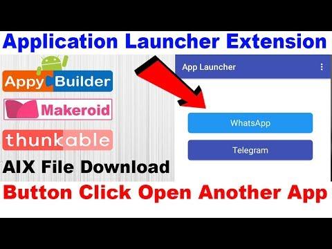 App Launcher Extension| Button Click Open Another App