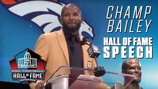 Champ Bailey FULL Hall of Fame Speech | 2019 Pro Football Hall of Fame | NFL