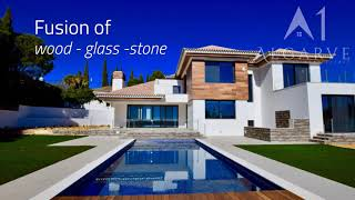 Video of New 4 bedroom villa with distant sea views close to the beach of Quinta do Lago and Vale do Lobo