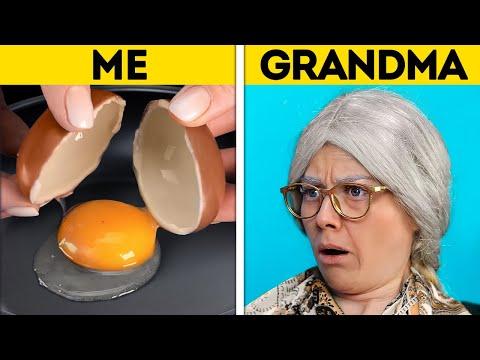 ME VS. GRANDMA || Jaw-Dropping TIK TOK Challenges, Magic Tricks, Experiments And Prank Ideas
