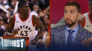 Pascal Siakam was the 'biggest reason' Raptors won Game 1 — Nick Wright | NBA | FIRST THINGS FIRST