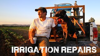 Irrigation Repairs - Welding and Digging in the Field