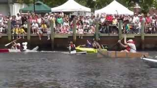 preview picture of video 'Riverhead Cardboard Boat Race 2013'