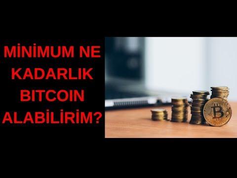 Minimum Ne Kadarlık Bitcoin Alabilirim?