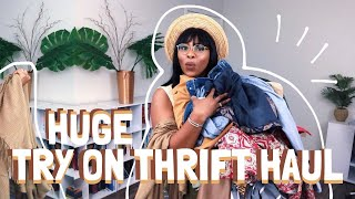 Huge Try On Thrift Haul | Vintage, Bohemian, Retro, Modern Styles