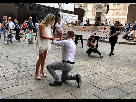 Real Wedding Proposal * from Germany to Italy