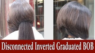 Disconnected Inverted Graduated BOB by Jas Sir from Sam and Jas Hair & Makeup Academy  Mumbai