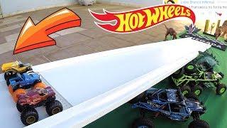 Hot Wheels Corrida Ladeira Abaixo - Monster Jam Carrinhos De Brinquedos #203