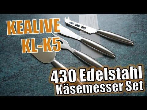 Kealive KL-K5 Cheese Knives Set // Hands-on // - Edelstahl Käsemesser Set (Deutsch)