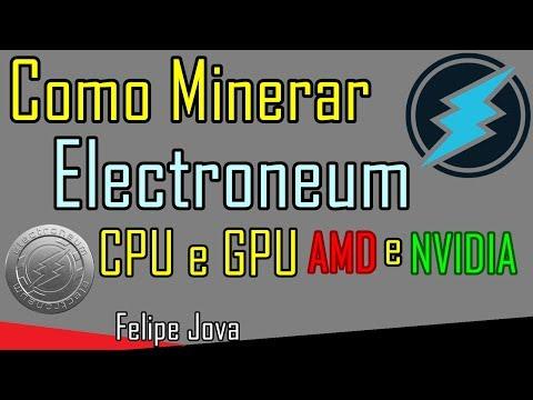 Como Minerar Electroneum CPU e GPU AMD Nvidia