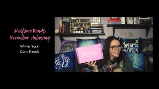 Shelflove Reads | November 2018 Unboxing | Write Your Own Reads