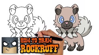 Rockruff  - (Pokémon) - How to Draw Pokemon   Rockruff   Step by Step