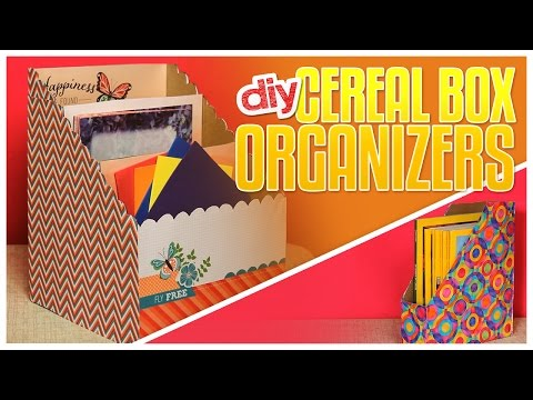 3 DIY Cereal Box Organizers - Do It, Gurl