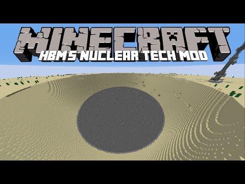Minecraft HBM's Nuclear Tech Mod/USE NUCLEAR ARMS TO CREATE DESTRUCTION!! Minecraft part 3