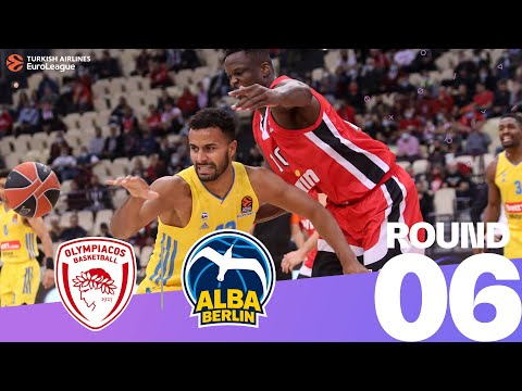 RS Round 6 Highlights: Olympiacos 87-83 ALBA