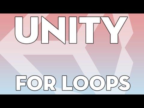 Unity Tutorials - Beginner B24 - For Loops - Unity3DStudent.com