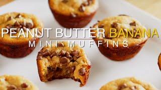 Peanut Butter & Banana Mini Muffins