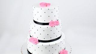 Three Tiered Whipped Cream Rose Cake Tutorial