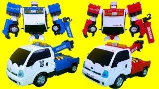 또봇제로  Vs.  또봇V 레스큐제로 변신로봇 자동차 장난감 Tobot V Toys
