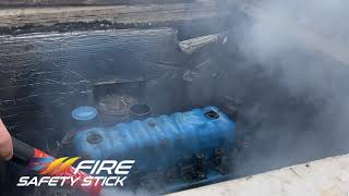Fire Safety Stick extinguishes boat fire!