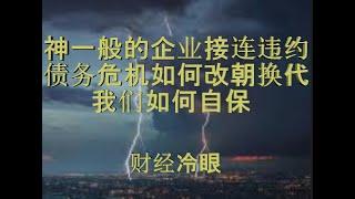 财经冷眼:神一般的企业巨头接连违约,债务危机将至,洪水下如何自保?(20191207第101期)