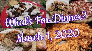 What's For Dinner?  Mar 1, 2020   Easy Weeknight Meals   Cooking for Two   Real Life Dinners