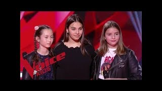 David Guetta & Sia - Flames   Eva VS Valéria VS Manon   The Voice Kids France 2019   Blind...