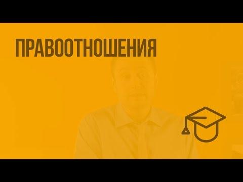 Правоотношения. Видеоурок по обществознанию 9 класс
