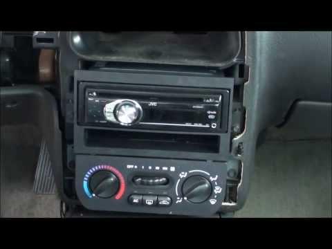 00-02 Saturn SL2 radio Install (After Trim Removal)
