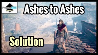 Assassin's Creed Odyssey - ASHES TO ASHES Guide / Solution / Location [Ainigmata Ostraka]