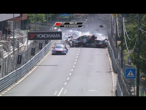 In the World Touring Car race in Portugal today, every single car crashed on the first lap of the race